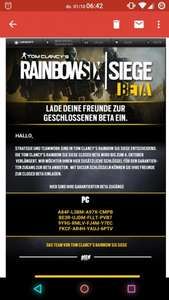 Rainbow Six : Siege Beta keys