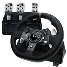 Lo­gi­tech G920 Dri­ving Force Racing Wheel für Xbox One, PC (UK Version), Game Controller, für 286,11€ statt 350,32€ @Amazon