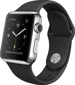 [Notebook.de] APPLE Watch 38 mm Edelstahlgehäuse mit Sportarmband in Schwarz oder weiß für je 529,-€ Versandkostenfrei