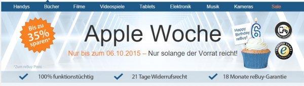 [Rebuy] Apple-Woche bis 06.10. - z.B. iPhone 5S (Zustand: sehr gut) für 327€ *** Apple iPad Air 2 mit 128GB für 498€
