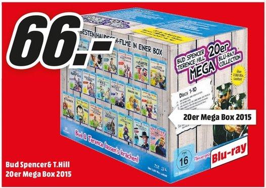 [Lokal Mediamärkte Mainz,Alzey und Bischofsheim] Bud Spencer & Terence Hill - 20er Mega Blu-ray Collection (Blu-ray) für 66,-€