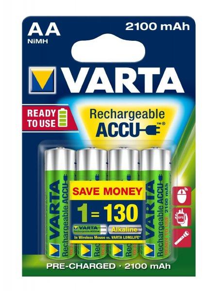[Amazon] Varta 4*AA Mignon Ready to use Akkus 2100mAh