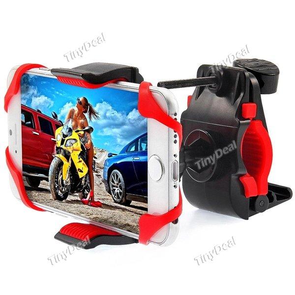 (tinydeal) Axgio Universal-Fahrrad-Motorrad-Lenkerhalterung für Smartphone Apple iPhone 6s / 6 / 5s / 5c / 4s Galaxy S5 / S4 / S3 / S2