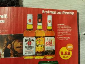 Jim Beam Bourbon/Honey/Red Stag Black Cherry 8,88 Penny