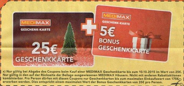 [bundesweit Medimax] Gutscheinaktion: bspw. FireTV Stick für effektiv 25€ (ohne Sprachsteuerung)