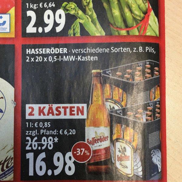 2 Kästen Hasseröder (40 Flaschen) Kaiser's (lokal Berlin?)