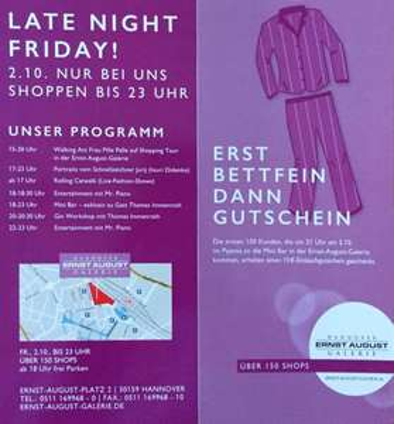 [Lokal Hannover] 15€ Gutschein in der Ernst-August-Galerie geschenkt (heute 21 Uhr!)