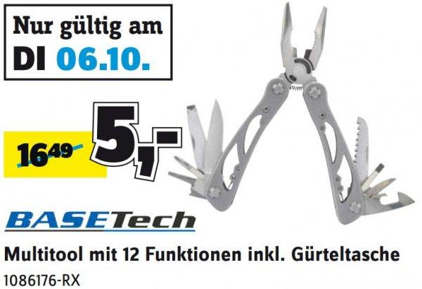 Basetech Multitool mit 12 Funktionen inkl. Gürteltasche für 5€ statt 16,49€ nur am 06.10. @Conrad Filialen