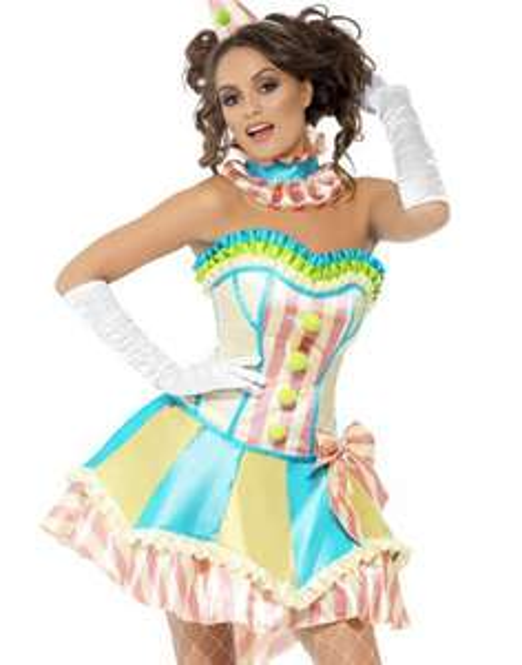 [Amazon.de-Prime] Smiffy's - Fever Vintage Clown Damenkostüm, Größe L