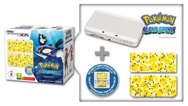[Amazon.fr] New Nintendo 3DS inkl. Pokemon Alpha Saphir + New Super Mario Bros 2 für 202,30€