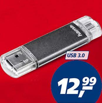 USB- und Micro-USB-Anschluss in EINEM Stick, Hama Laeta Twin, mit 32 GB, USB 3.0 @ Real