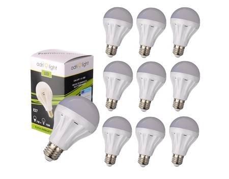 [Allyouneed] 10x LED E27 (7W, 630 Lumen, 2700 Kelvin = warmweiß, 180° Abstrahlwinkel) für 22€