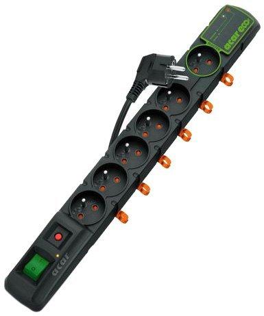 [Amazon.de-Prime] Acar ECO Überspannungsschutz Steckdosenleiste 1,5 m  (1X Master/5X Slave)