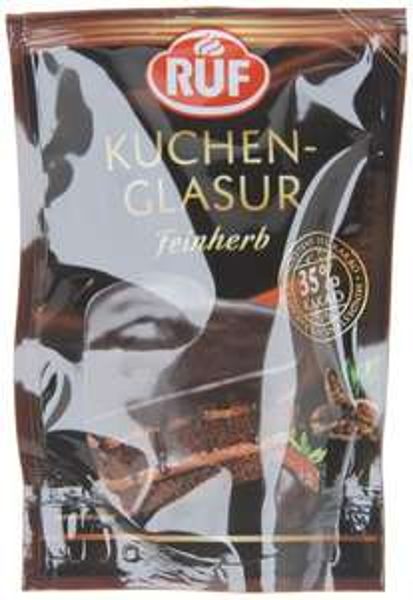 [Amazon.de-Marktplatz] RUF Kuchen-Glasur Feinherb, 12er Pack (12 x 100 g)