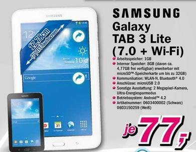 [Lokal Telepoint] Samsung Galaxy Tab 3 Lite (7.0 + WI - FI) für 77 €