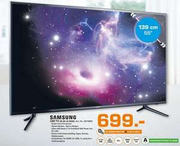 [LOKAL Saturn Bremen] Samsung UHD 4K LED TV UE 55 JU 6050 für 699,00 €