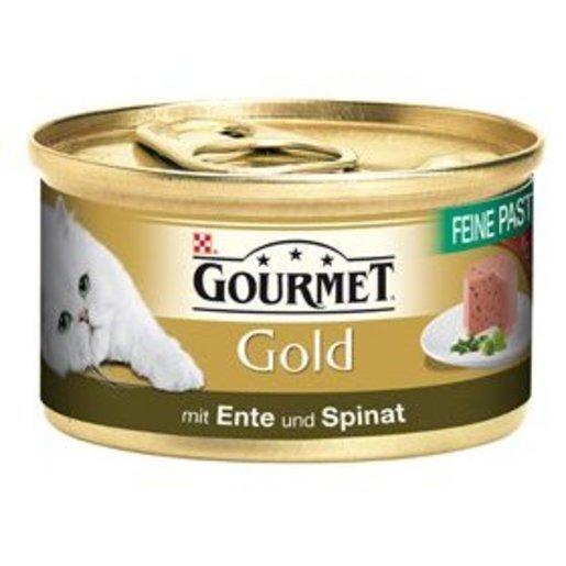 60 X Gourmet Gold Katzenfutter (mit Ente und Spinat - je 85g) + 2€ Spende für Tierprojekte für nur 15,66€!