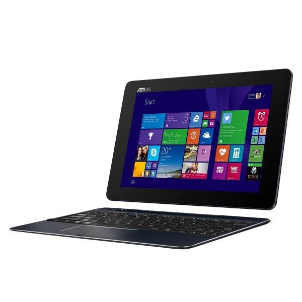 T100CHI-FG001B 25,6 cm (10,1 Zoll FHD) Convertible Tablet-PC (Intel Atom Z3775, 1,4GHz, 2GB RAM, 32GB SSD, Intel HD, Win 8, Touchscreen) schwarz Win 10 kompatibel, azerty