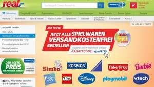 [real.de] Spielwaren versandkostenfrei am 04.10.2015