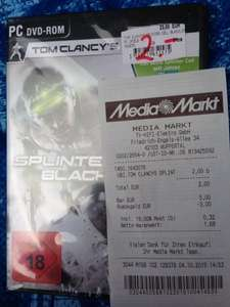 [Lokal MM Wuppertal] PC Splinter Cell Blacklist Retail Version 2€