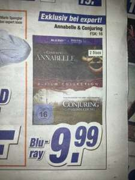 [expert klein] Annabelle & The Conjuring BluRay (2 Discs) - 9,99 EUR