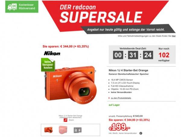 Nur noch bis Mitternacht: Nikon 1J 4 für 199€ bei Redcoon