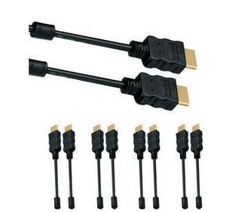 [NBB] 5x HDMI-Kabel 2m (4K = 2160p, vergoldete Kontakte, ARC) für 7,77€