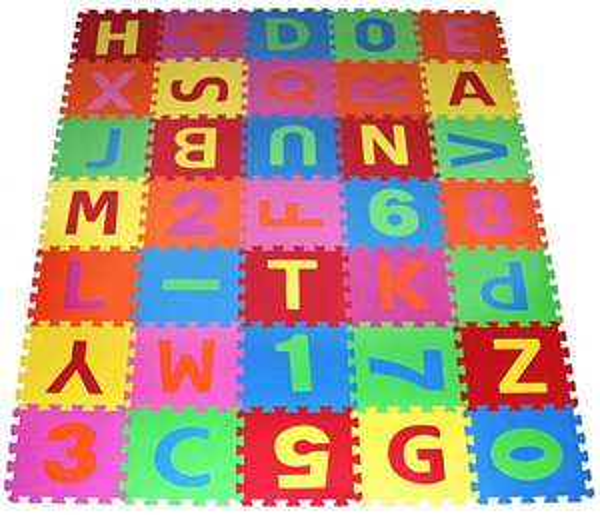 PRINZBERT 86-tlg Puzzlematte Kinderteppich