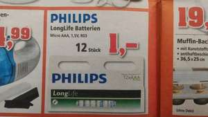 [Thomas Philipps] 12 x AAA Batterie R03 Philips Longlife 1€