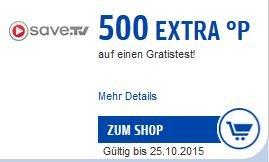 [Payback] 500 Punkte (=5 EUR) für den Gratis-Test von save.tv Online-Videorekorder