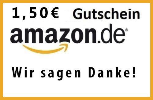 1,50 € EURO AMAZON GUTSCHEIN - Ebay !! 1 Gutschein Pro Kunde !!