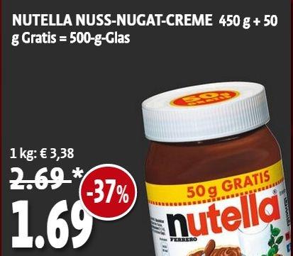 [Kaisers] Bundesweit - Nutella 500g für 1,69 € // 3,38 €/kg