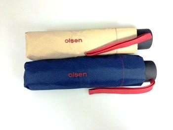 Null.de - 2x Olsen Regenschirme  je 1 Blau &  1 Creme für Nur 9,99 € incl. VSK