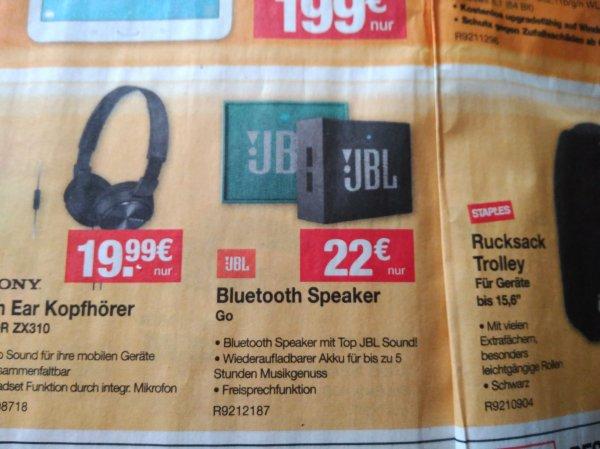 STAPLES Offline JBL Go kleiner Bluetooth Lautsprecher 22 EURO