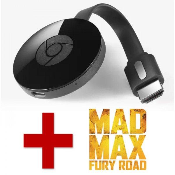 "Chromecast 2 + Film ""Mad Max Fury Road"" nun für 34,99€ bei wuaki.tv"