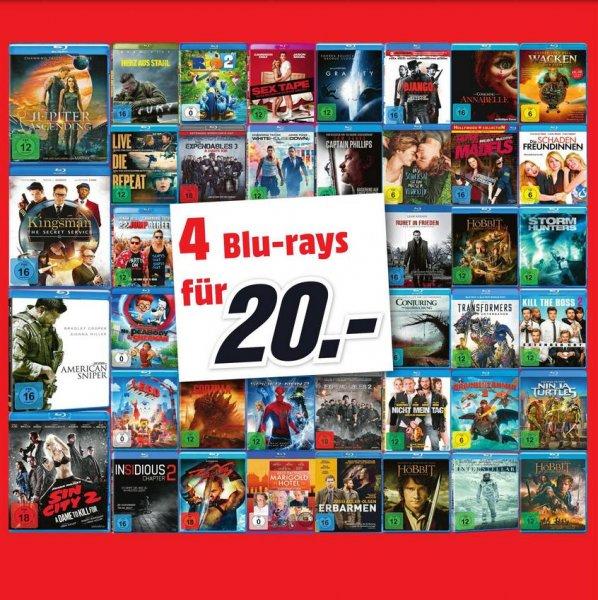[Lokal MM Wolfsburg, Gifhorn] 4 BluRay`s für 20€ z.B. American Sniper, Kingsman, Interstellar, Edge of Tomorrow, etc.