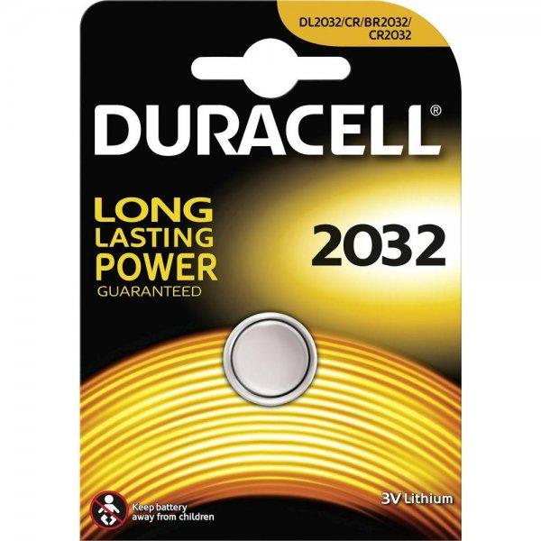 DURACELL Batterie Lithium,Knopfzelle,CR2032 / CR2025, 3V für 0,54€ bei vibuonline.de incl.Versand