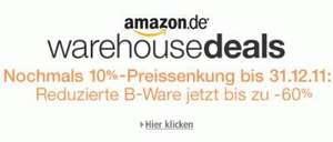 10% Warehouseextrarabatt @Amazon gestartet
