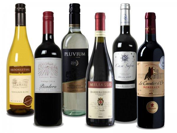 Luxus Weinpaket bei weinvorteil.de 19,99EUR statt 65,42EUR