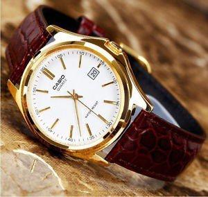 Casio Herren-Armbanduhr Casio MTP Analog Leder braun MTP-1188Q-7BEF inkl. Vsk für 23,11 € > [amazon.it]