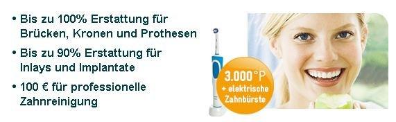 Zahnzusatzversicherung ab effektiv 6€ für 1 Jahr + elektrische Zahnbürste!