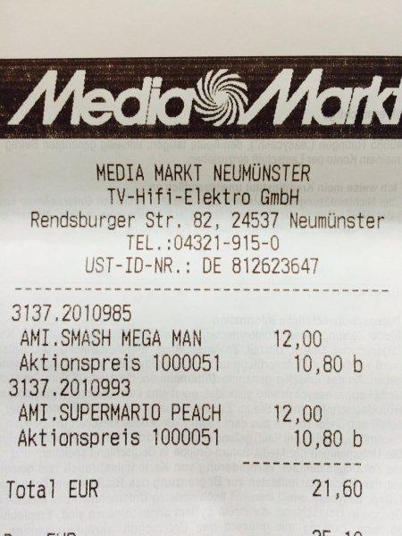 [MM lokal - 24537 Neumünster] 10% auf Alles: Nintendo Amiboo Figuren 10,80 EUR / Stück