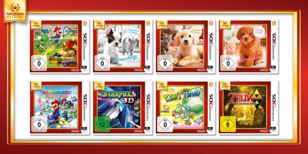 Nintendo Selects günstige 3DS Spiele wie Yoshis New Island,  Zelda -  Link Between World,  Mario Party/ Tennis und viele weitere