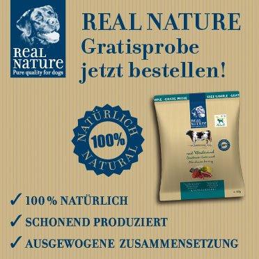 Gratis Probe REAL NATURE Premium-Trockennahrung für Hunde
