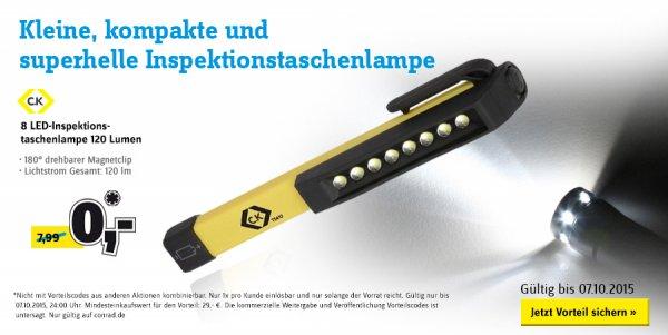 [CONRAD] Taschenlampe gratis MBW 29€