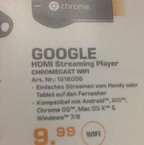 Google Chromecast streaming Stick Lokal Saturn Hamburg