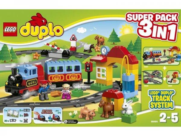 """LEGO Duplo 66494 Eisenbahn """"Super Pack 3in1"""" inkl. Versand für 55 € statt 79 € - @Spielemax.de"""