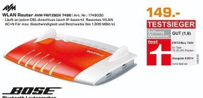 [Lokal Saturn Köln Hansaring] AVM FRITZ!Box 7490 WLAN-Modem-Router ADSL, ADSL2+, VDSL 2.4 und 5 GHz 1750 MBit/s Gigabit-LAN für 149,-€
