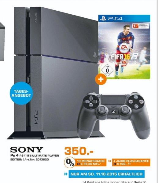 (Lokal Neuss) PS4 Ultimate Player 1TB Edition + FIFA16 für 350€ (Nur FIFA16 49€)@ Saturn