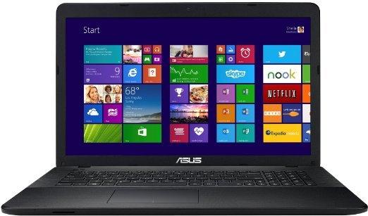 Asus 17,3? Notebook (Intel Core 2 Quad N2940 2,2GHz, 8GB RAM, 1TB HDD, Win 8) für 379€